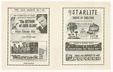 Flier for the Starlite Drive In Theatre