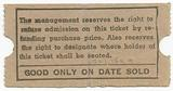 """Ticket for the """"Coloured Balcony"""" of the Vernon Theatre"""
