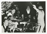 Print of Cab Calloway conducting his band