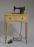 Singer sewing machine and table from Mae's Millinery Shop