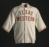 Warm up jacket worn by Jerry Armstrong for Texas Western