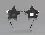 Bootsy Collins style star-shaped mirrored lens sunglasses