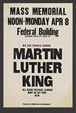 Poster for a mass Memorial for Martin Luther King