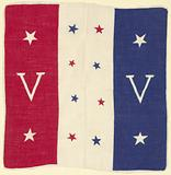 Handkerchief with World War II Double V campaign design