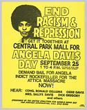 Flyer Promoting a Rally for Angela Davis Day