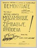 Flyer advertising demonstration in support of liberating Southern Africa