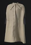 Cream wool cape designed by Arthur McGee