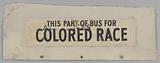 Sign from segregated Nashville bus number 351