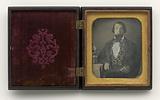 Daguerreotype of a man in paisley vest