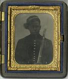 Ambrotype of a Civil War soldier