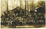 Picture postcard of a North Carolina Convict Camp