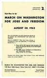 March on Washington for Jobs and Freedom: Organizing Manual No. 2.