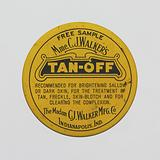 """Tin for Madam C. J Walker's """"Tan-Off""""."""