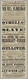 Playbill for Ira Aldridge in Othello and The Slave at the Theatre Royal