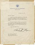 Letter to Richard Howard from Vice Pres. Richard Nixon, October 22, 1960.
