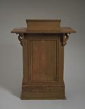 Podium used at the Wayman Chapel A. ME Church in Lyles Station, Indiana.
