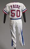 Texas Rangers baseball uniform short pants worn by Charley Pride