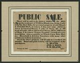 Broadside for the sale of enslaved persons and other property of William Bland