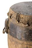 Wooden drum used on the Sea Islands, South Carolina