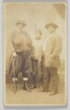 Photographic postcard of three unidentified women