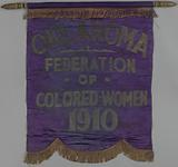 Banner used by the Oklahoma Federation of Coloured Women's Clubs