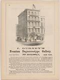 J Gurney's Premium Daguerreotype Gallery, 349 Broadway, New York