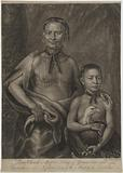Tomo Chachi Mico or King of Yamacraw, and Tooanahowi His Nephew, Son to the Mico of Etchitas