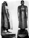 Egyptian statue, side and front, of…, Old Kingdom
