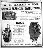 Engravings: advertisment for anaesthetist's bags