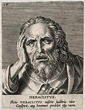 Heraclitus. Line engraving