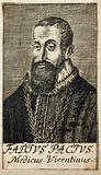 Fabius Pacius. Line engraving, 1688