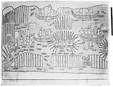 Drawing of conquest of a tribe from the Ninevah expedition