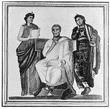 Virgil. Mosaic portrait, found in Tunis