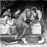 Saints Cosmas and Damian, oil painting