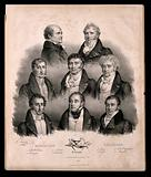 Eight famous French doctors