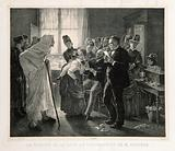 Rabies vaccination in Pasteur's clinic in Paris