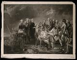 The death of General Simon Fraser at the Battle of Bemis Heights, Saratoga