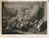 The death of Major Peirson in the battle of Jersey