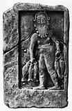 Sumerian deity of Healing, Adapa, painting of a relief