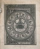 Medieval Christian mosaic from Santa Maria Assunta Cathedral in Aoste, Italy
