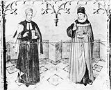 Saints Cosmas and Damian, from altar piece, by Huget