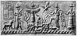 Sumerian seal of Ad-da showing sunrise, circa 2500BC