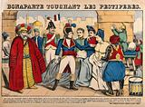 Napoleon Bonaparte touching the bubo of a plague victim at Jaffa in 1799