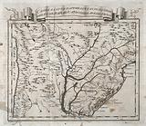 A map of Paraguay and surrounding area, illustrating where cinchona (quinine) was allegedly first discovered in 1626(?)