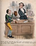A boy requesting an anatomist to mend his broken jug
