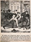 Mr Lambkin and friends in court before a magistrate for being drunken and disorderly