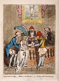 The wedding of Lady Lucy Stanhope to Thomas Taylor, a surgeon-apothecary: the bride is given away by her father Earl …