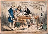 John Bull about to be bled by three doctors