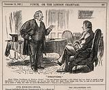 A Scottish doctor informing a northen farmer of the perils of consulting a southern doctor including recommending red …