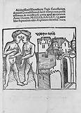 """Title-Page of Brant's """"De monstruoso partu"""" 1495"""
